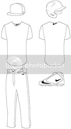 Blank Baseball Uniform Template Regular template: Images