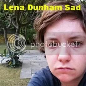 Lena Dunham sad