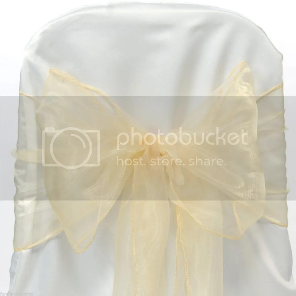 PACK OF 100 Organza Chair Cover Sash Bows sashes Wedding
