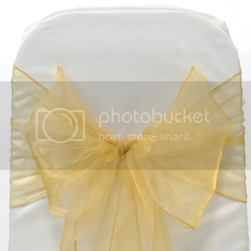PACK OF 100 Organza Chair Cover Sash Bows sashes Wedding