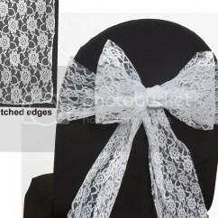 Chair Covers And Bows Ebay Hanging Chairs For Sale Wedding Lace Bow Sash Cover Sashes