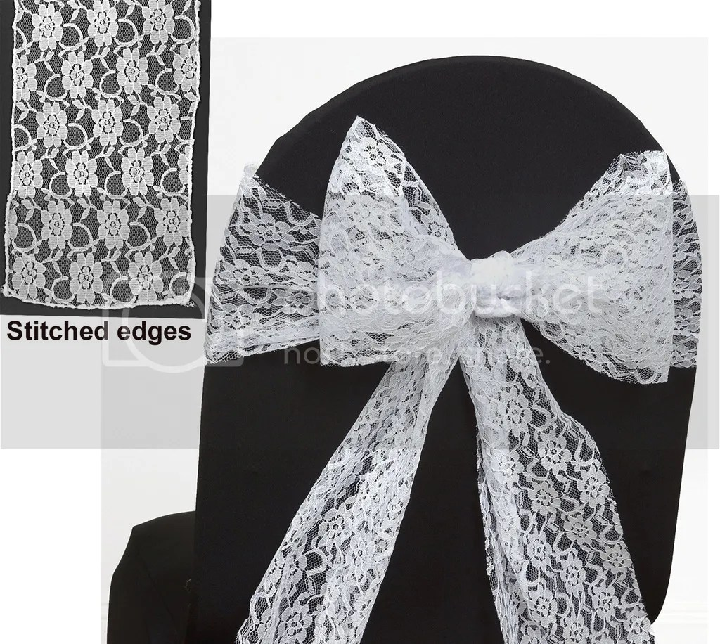 wedding chair covers with bows office exercise equipment lace bow sash for cover sashes