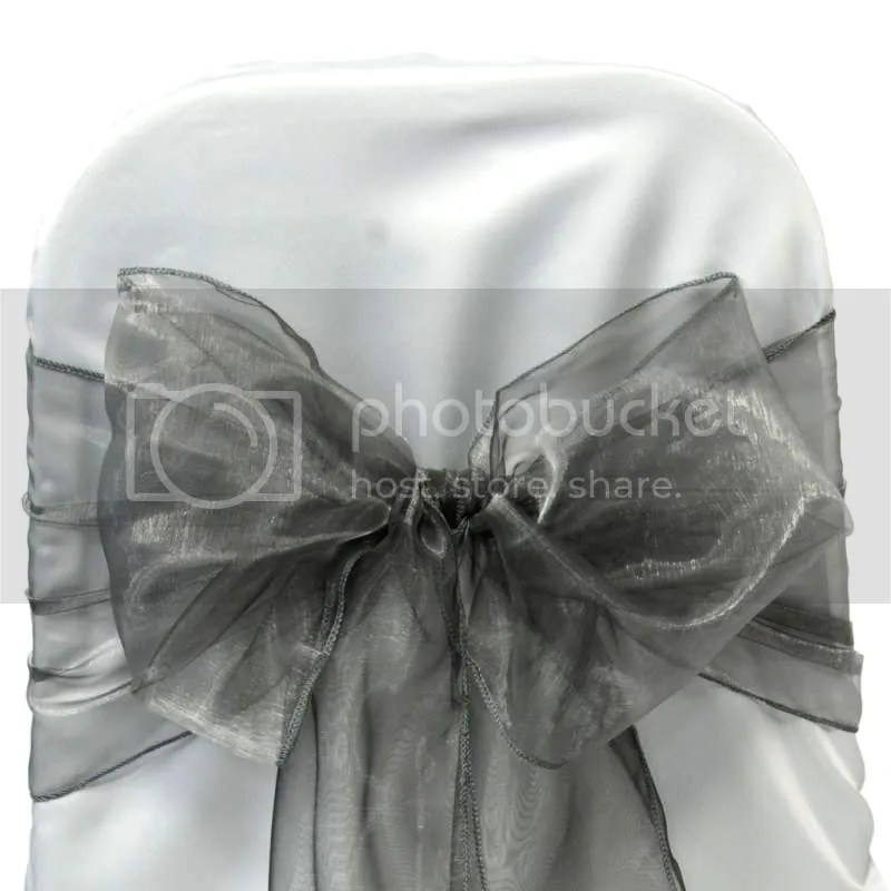 125 Organza Sashes Chair Cover Bow Sash BOWS Wedding Party