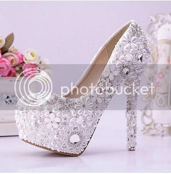 Pearl Jewelery Heels