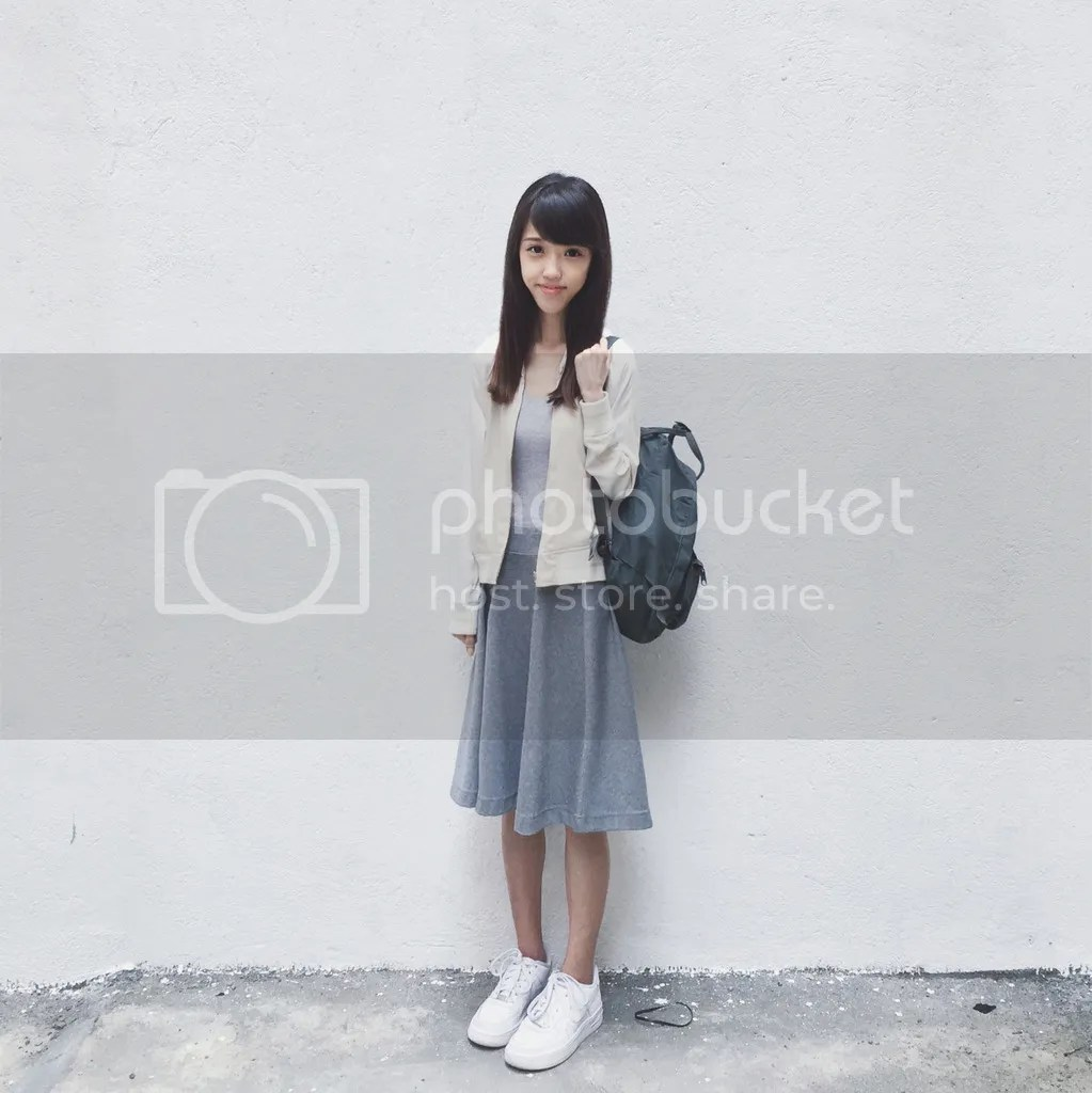 How should short girls wear midi skirts? OOTD Outfit of the day - Lowry's Farm Collectpoint, Cotton On, Muji, Fjällräven Kanken, Nike Air Force 1