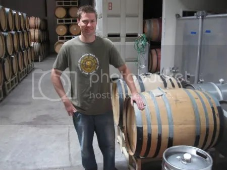 i made him stand by the barrel so you could see the connection between winemaker and wine