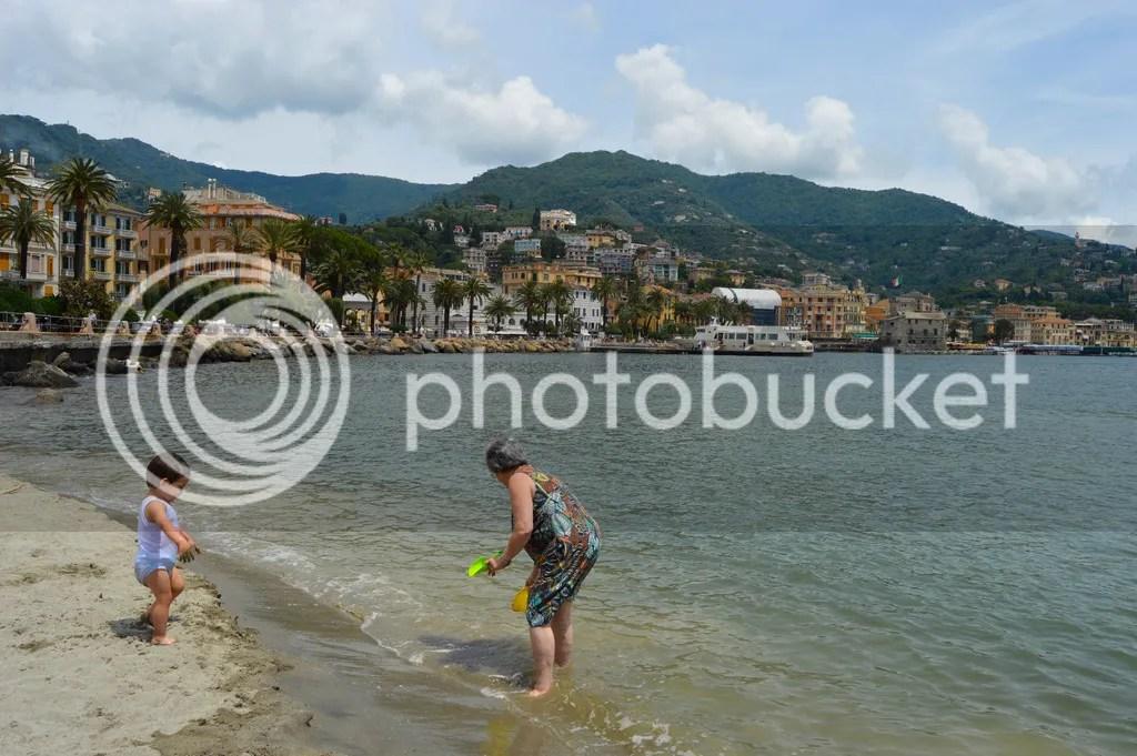Beach in Rapallo, Italy