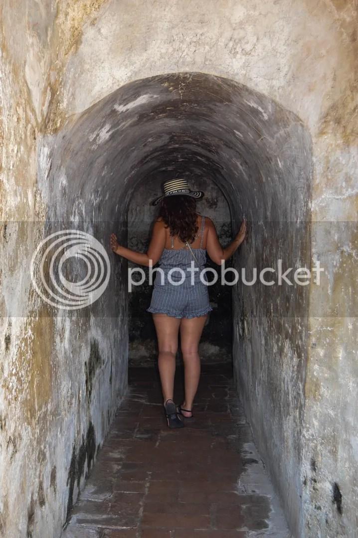 The underground tunnels of Castillo San Felipe de Barajas