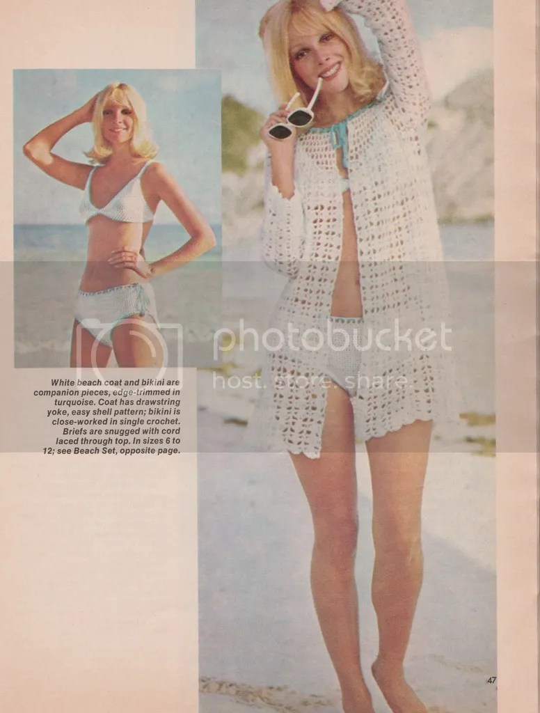 chloeheartsowls.com vintage crochet pattern: 1970s beach set