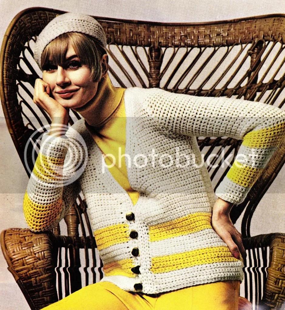 vintage crochet 1960s scandinavian chic sweater pattern chloeheartsowls.com