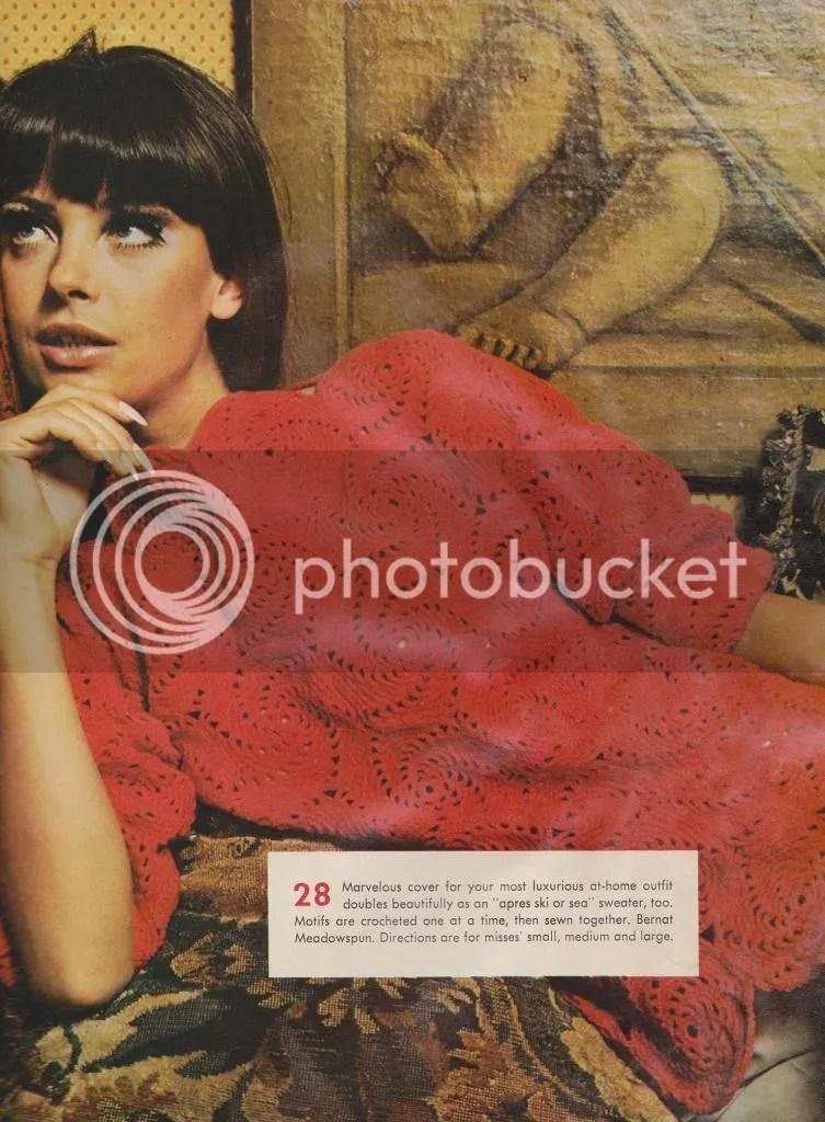 chloeheartsowls.com pinwheel pullover vintage 1960s pattern