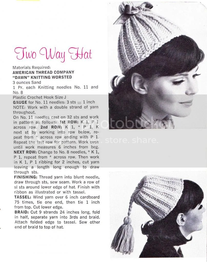 two way hat pattern