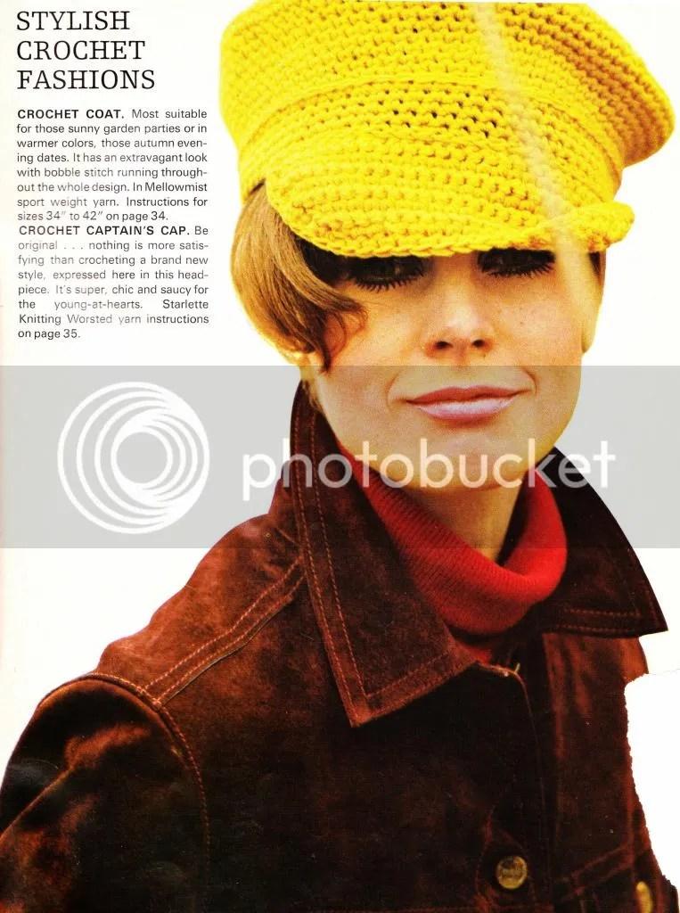 chloeheartsowls.com vintage crochet pattern 1960s captain's hat