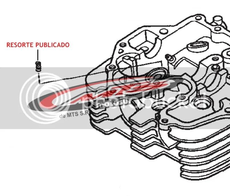Resorte Tope Descompresor Original Honda Xr-nx 400 Moto