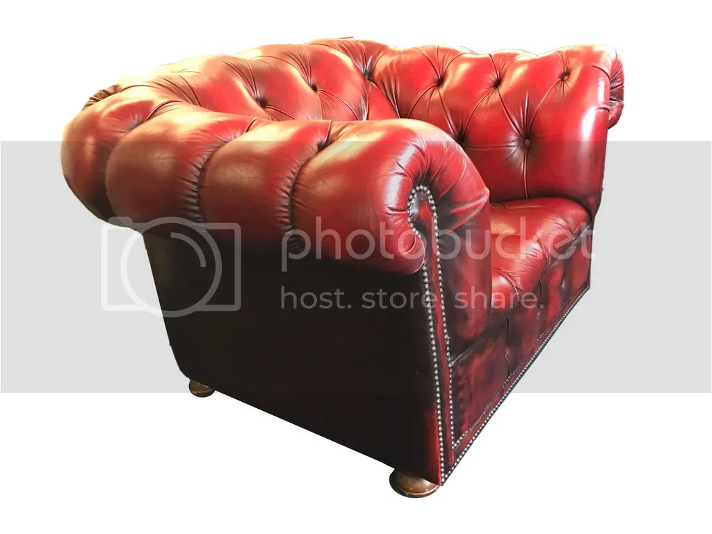 Red Chesterfield Sofa Ebay Chesterfield Sofa And Matching Armchair Button Back Genuine