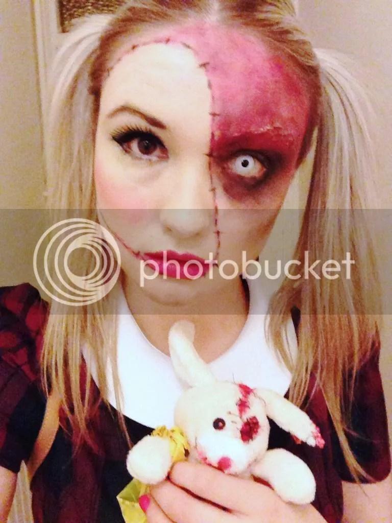 creepy doll make up