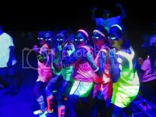 I taught all the girls my Power Pose for the end of the race!  Foam Glow 5K...DONE!