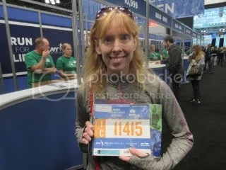 Me with my race bib...#11415 - Orange - Wave 1 - Corral C!