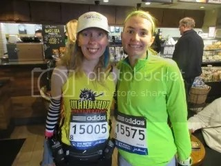 Me and Jodie before the Boston Marathon