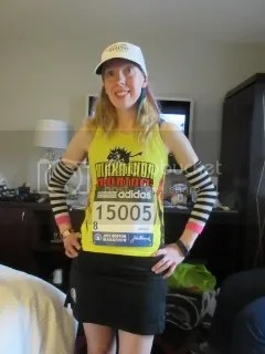 Me, highly under-dressed for the weaher for the 2015 Boston Marathon