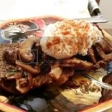 Garlic Mushrooms on Toast made with Food For Life Sprouted For Life Gluten Free Flax Bread