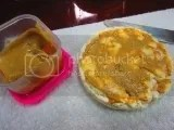SuperButter Original Crunchy Seed Butter (on a gluten-free rice cake)