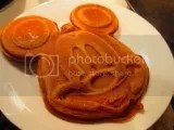 Gluten Free Pumpkin Mickey Waffles made with Trader Joe's Gluten Free Pumpkin Pancake Mix