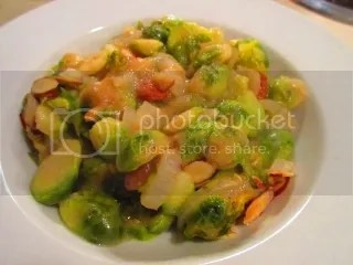 Brussels Sprouts in a Gluten Free White Wine Sauce
