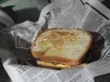 Brown Dog Deli's Gluten Free Portobello Philly Sandwich
