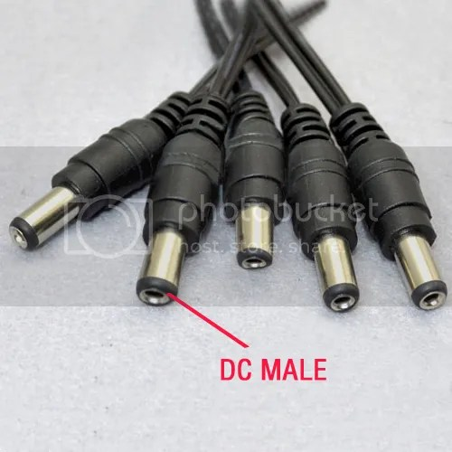 12v Dc Power Pigtail Male 21mm Cable Plug Wire Connector Ebay