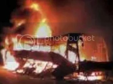 A special bus of the state-run transport corporation that was taking passengers to Hyderabad's Rajiv Gandhi International Airport caught fire in the early hours today.