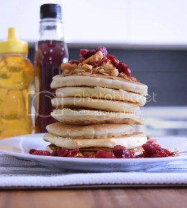 Maple Cranberry Granola Pancakes Mother's Day Recipes
