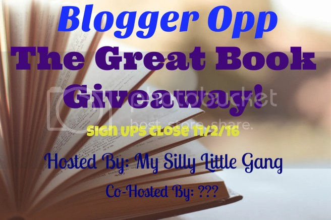great book giveaway blogger opp