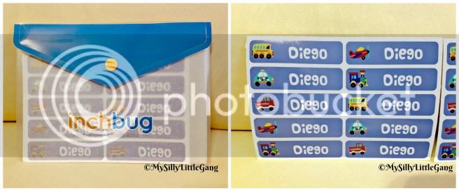 InchBug adhesive rectangle labels