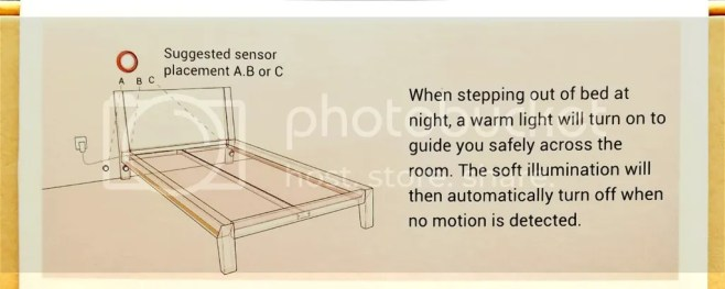 motion sensor bed light review