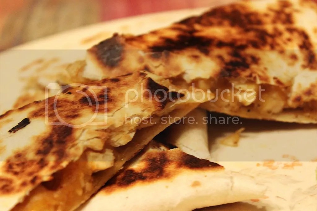 Chicken Quesadillas with a Spicy Jalapeno Sauce | EverydayMadeFresh.com