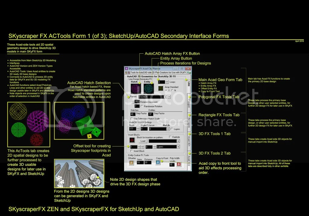 SKyscraperFX For SketchUp AutoCAD: AutoCAD Tools 2D Geometry FX