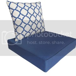 Navy Blue Patio Chair Cushions Nursing Outdoor Deep Seat Ebay