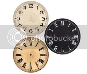 Clock Parts Antique Dials