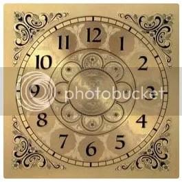 Square Metal Clock Face