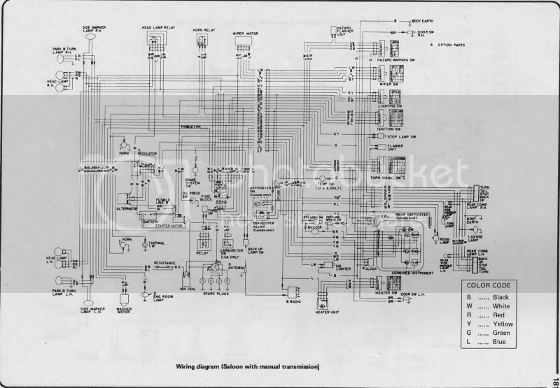 1971 datsun 510 wiring diagram towbar 12s electrics data today wagon the realm 620