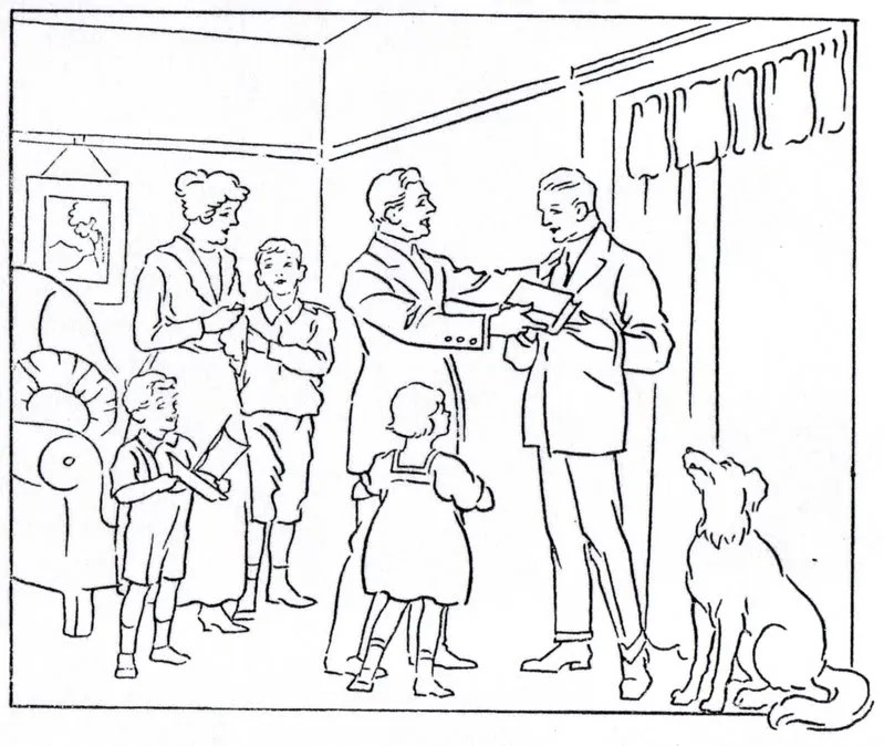 "Mormon History Coloring Book, 1923: July, ""Missionary"