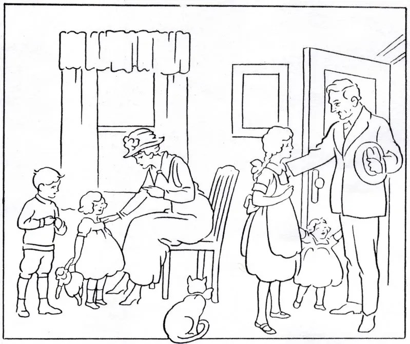Honor Your Father And Mother Coloring Page Sketch Coloring