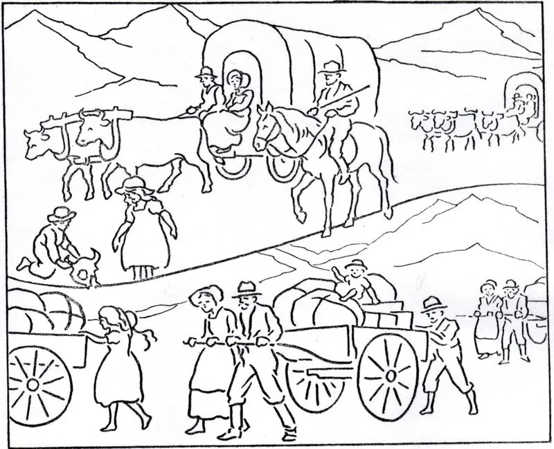 "Mormon History Coloring Book, 1923: October, ""Improvement"