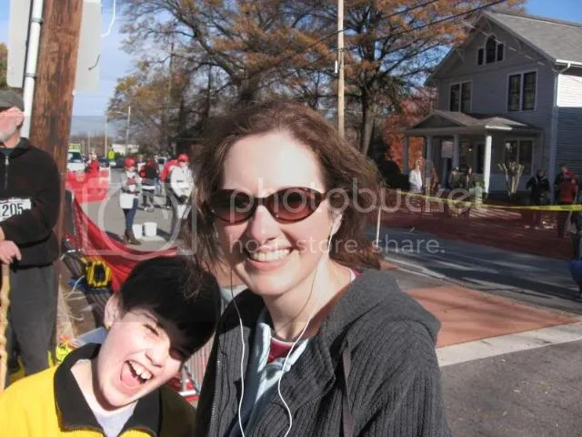 My son and I at the finish