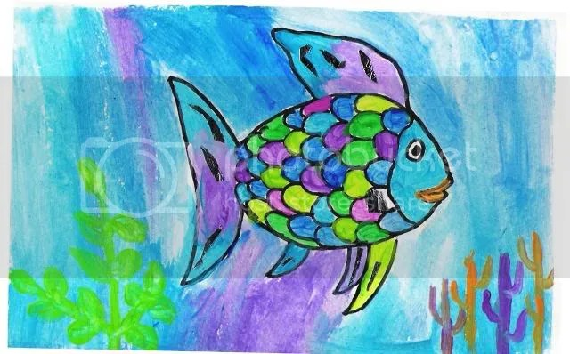 Rainbow Fish painting