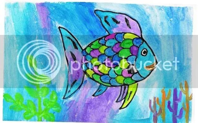 Rainbow Fish painting