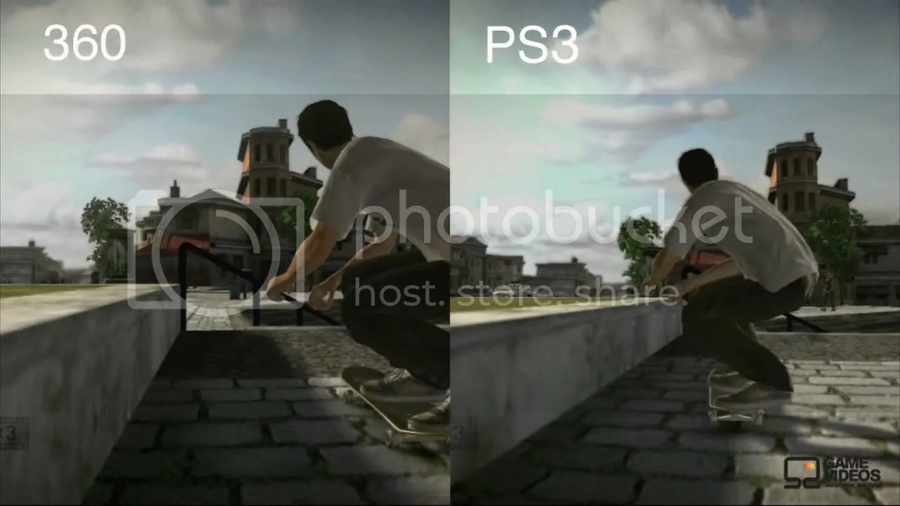 Comparativa entre Xbox360 y PS3 del Tony Hawk