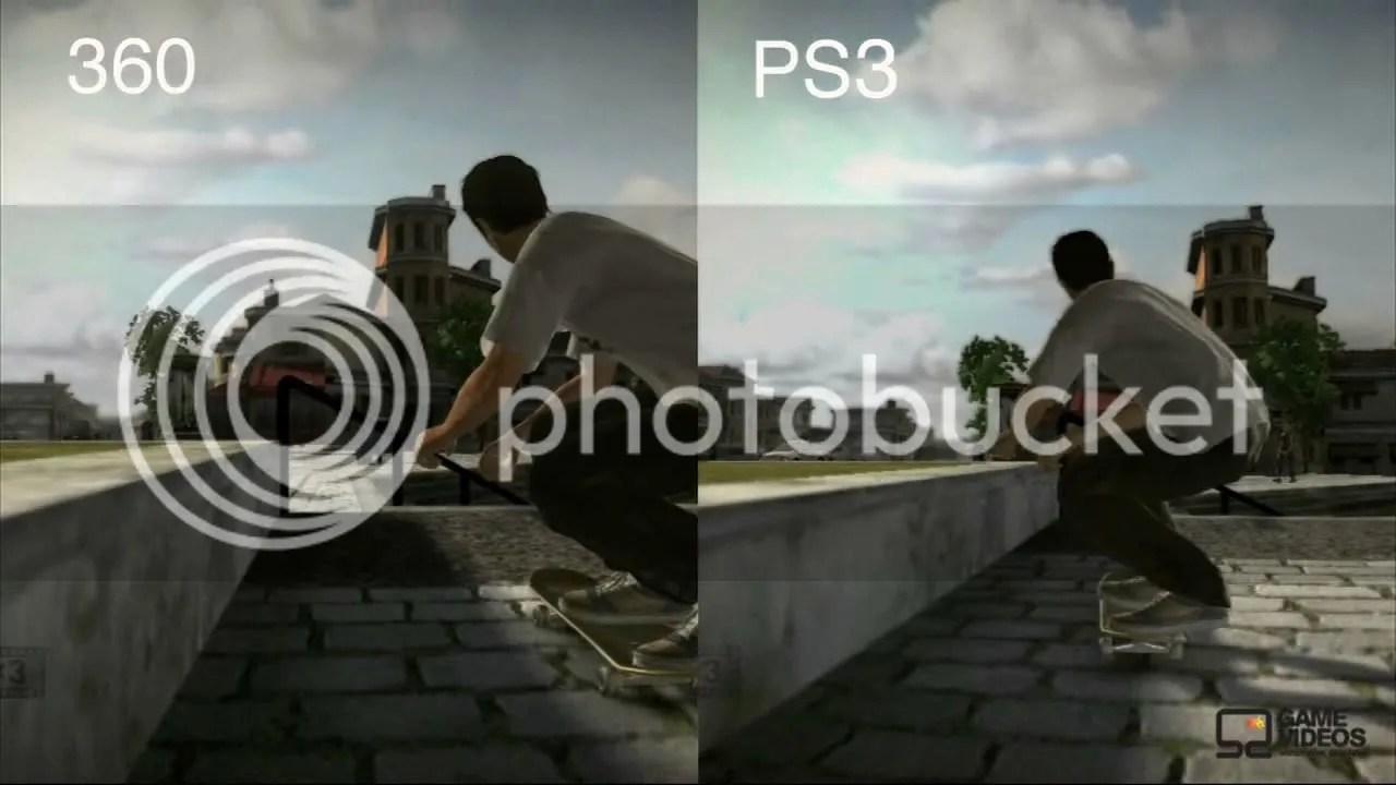 Comparativa entre Xbox360 y PS3 del Tony Hawk