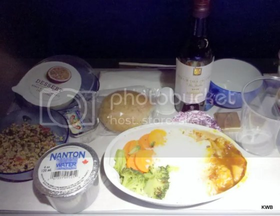 Complete and rather palatable meal, with alcohol, included in the British Airways ticket price.